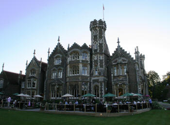 The iconic Oakley Court, Bray. Location for many classic Hammer Horrors, August 2007.